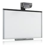 pizarrón smart board con proyector