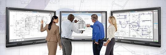 al mismo tiempo usar varias pantallas interactivas smart