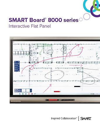pantalla SMART board serie 8000 con diseños