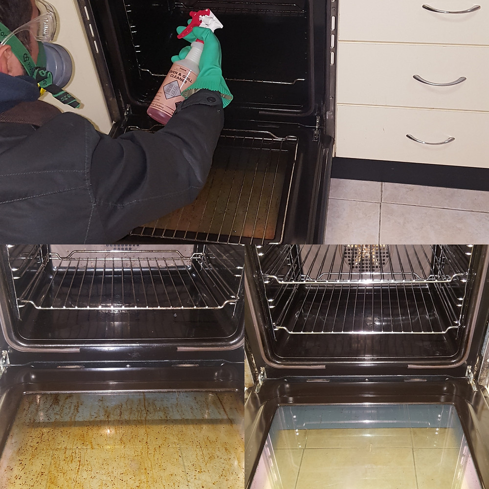 Oven Cleaning, Before and After