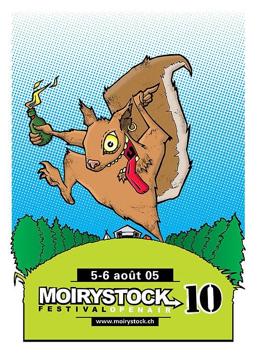 Moirystock, affiche et flyer pour le festival