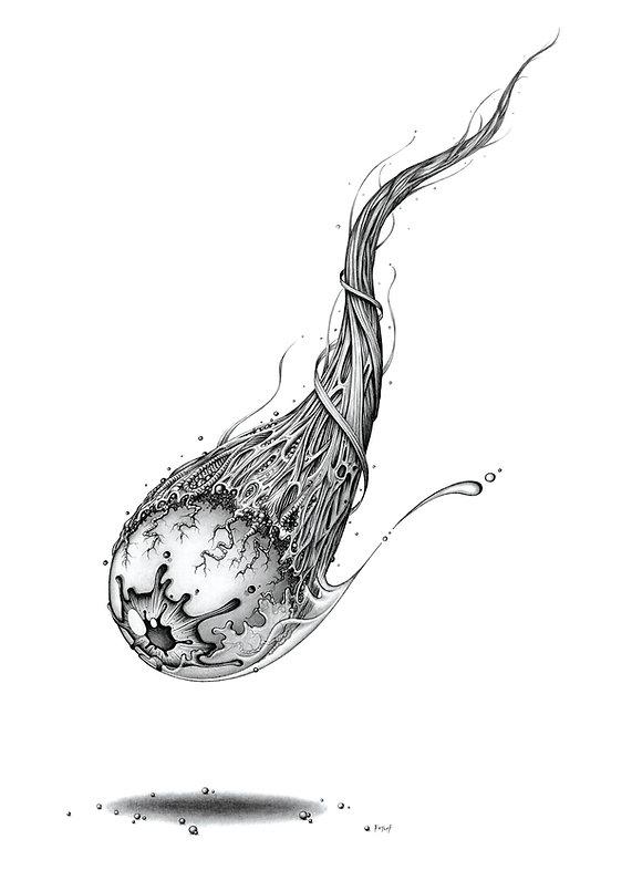 Comeye, illustration A3 au crayon. Poster A2, commandes sur http://petch.bigcartel.com/