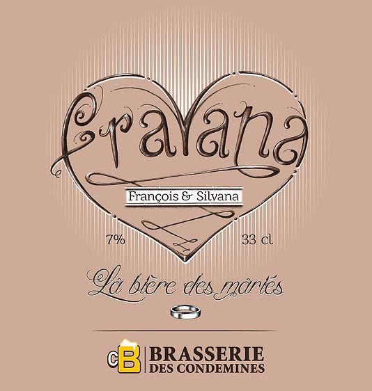 Fravana, étiquette de bière artisanale. dessin et mise en couleur photoshop