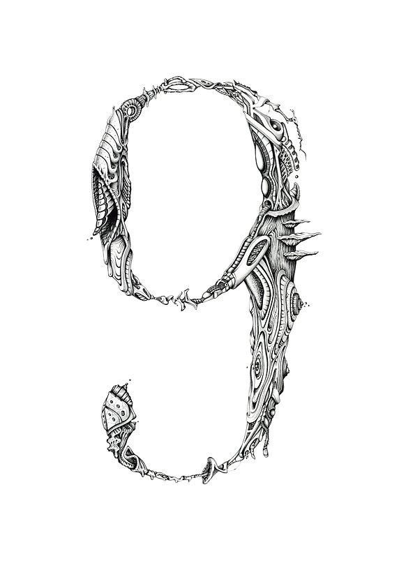 69 orga, illustration pour l'exposition 69 de PBK9. Format A3, commandes sur http://petch.bigcartel.com/