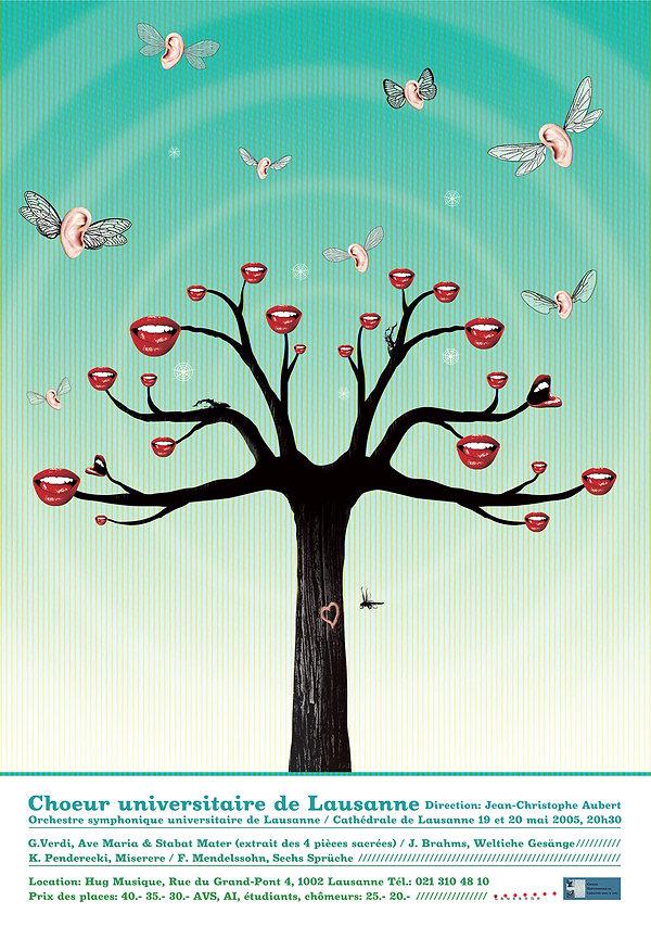 Coeur universitaire de Lausanne, Affiche format mondial