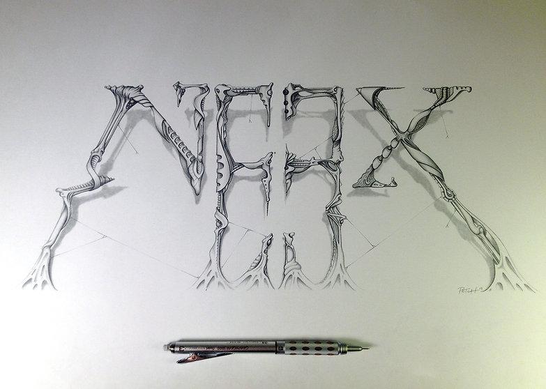 Neex, sketch graffiti, dessin A3 au crayon