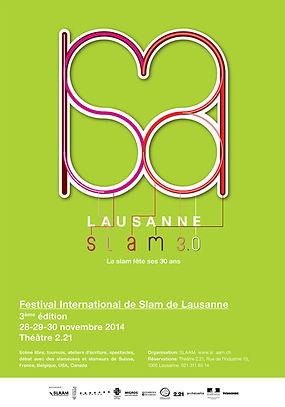 Lausanne SLAM 3.0, Affiche format mondial
