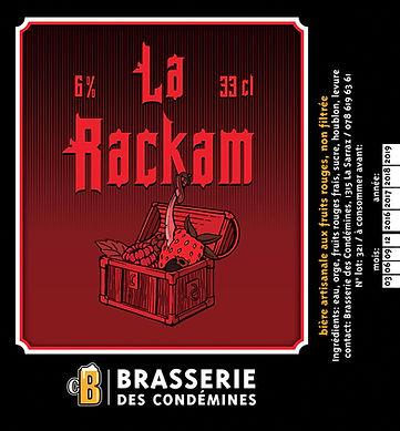 etiquette de bière, La Rackam, Brasserie des Condémines