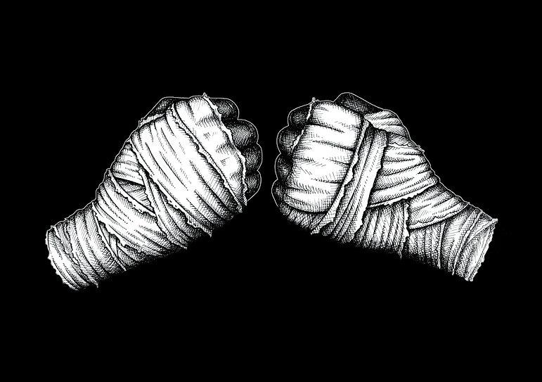 Illustration noir-blanc pour Yoann Kongolo