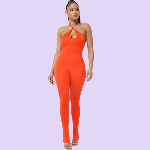 Orange Silhouette Jumpsuit