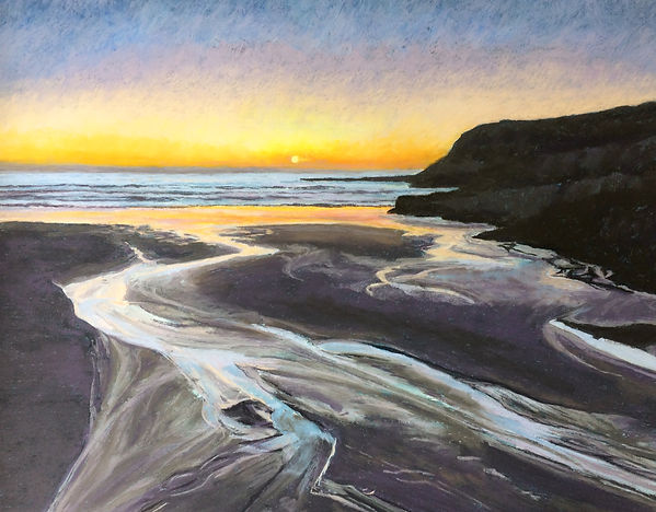 Santa Cruz sunset beach ocean