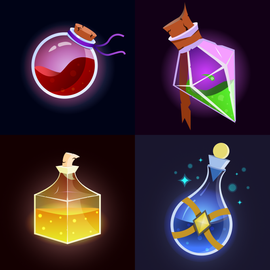 Stylized potions