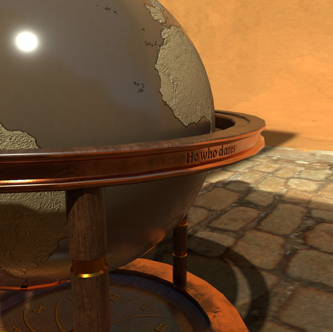 """He who dares"" - Globe texturing challenge"