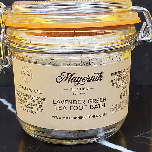 Mayernik Kitchen Lavender Green Tea Foot Bath