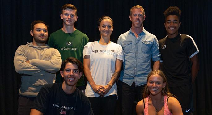 Melissa Barbieri & Scott Miller with Bendigo Studnents