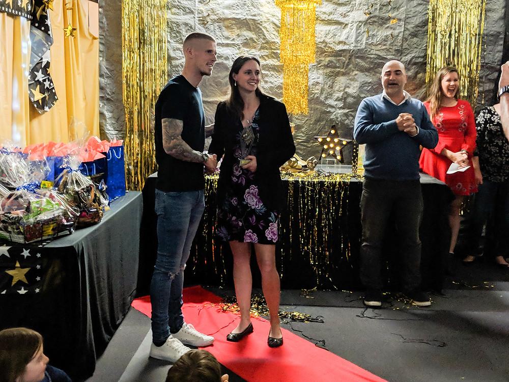 Andy Keogh at Victoria Park Soccer Club Awards Night