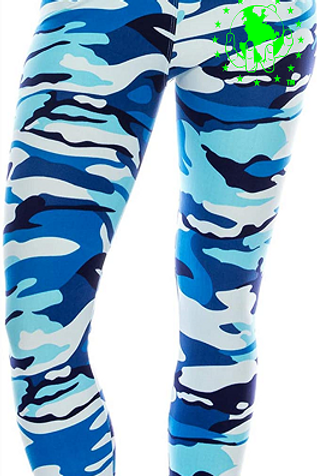 Blue CAMO Super Soft with Ultimate Stretch Leggings