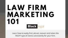 You're Invited -- Upcoming Webinar: Law Firm Marketing 101