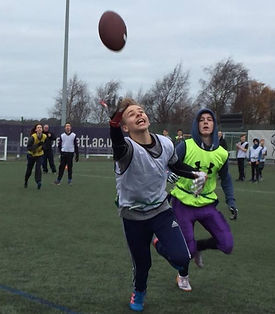 Leeds American Football - school PE lesson