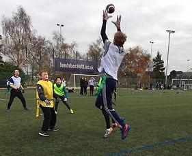 Leeds American Football - school PE lesson