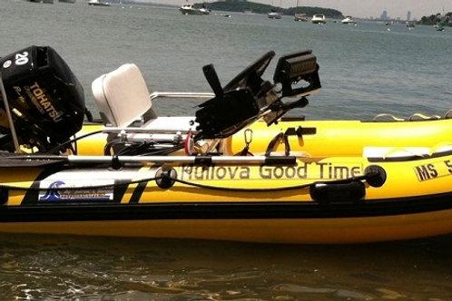 "10'8"" Fiberglass Inflatable RIB"