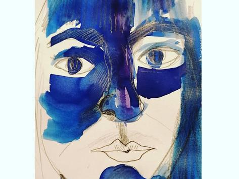 autoretrato azul
