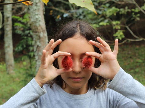 Olhos de urucum - minha filha Kalindi