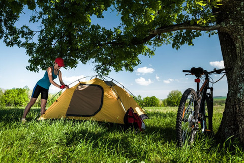 Biking & Camping is not all bugs, lousy weather, and wild animals