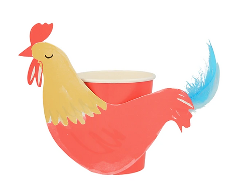 Vasos de gallo cola de pluma - Meri Meri