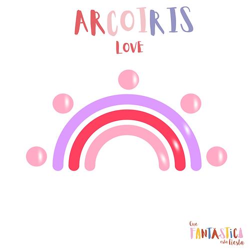 Kit arcoíris Love- Globos Latex