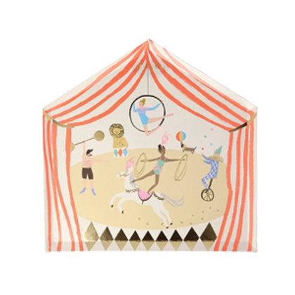 Platos carpa circo- Meri Meri