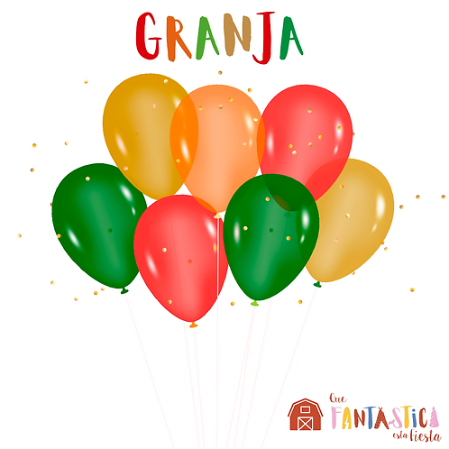 Set de globos latex granja