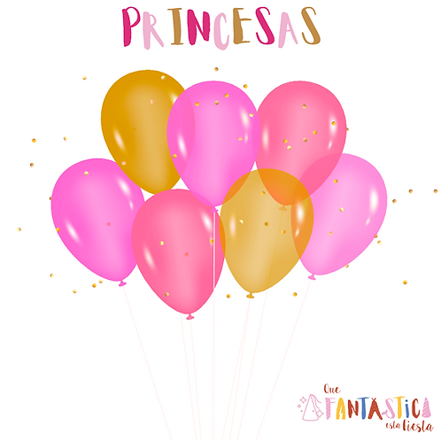 Set globos latex princesas