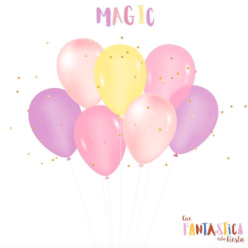 Set de globos latex Magic