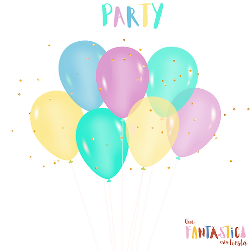 Set de globos latex Party