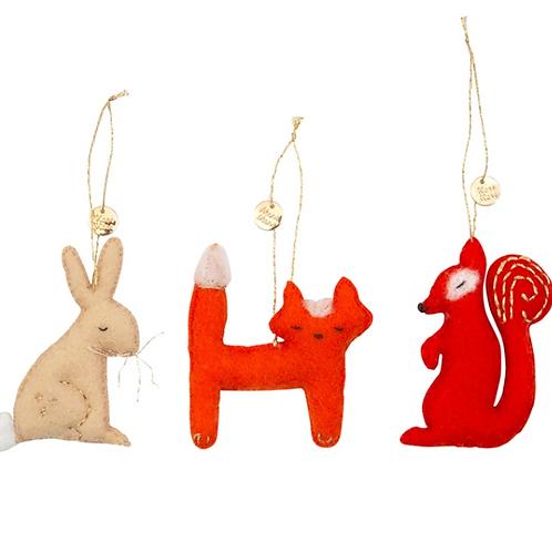 RESERVAR mini adornos animales del bosque - Meri Meri