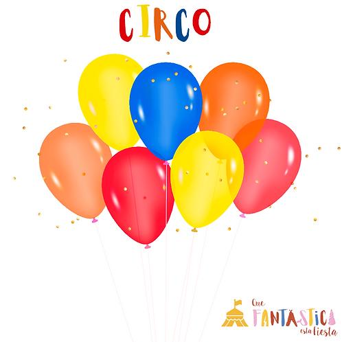 Set de globos latex circo