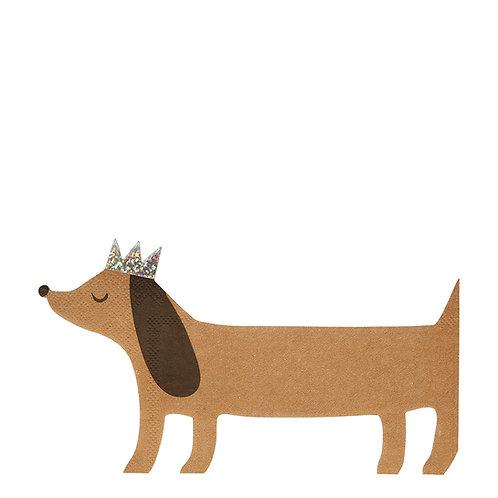 Servilletas perro salchicha- Meri Meri