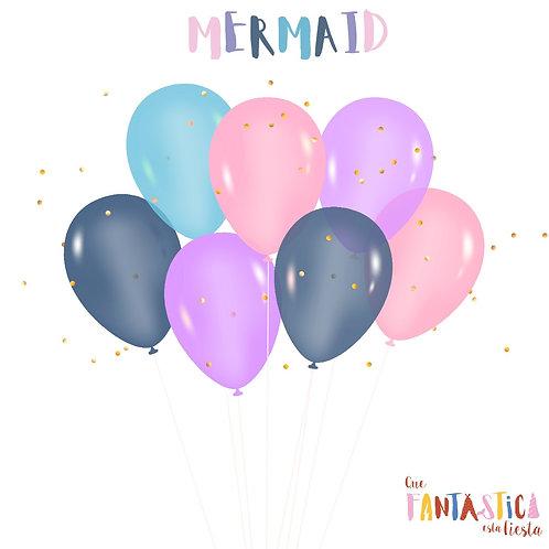Set globos latex Mermaid