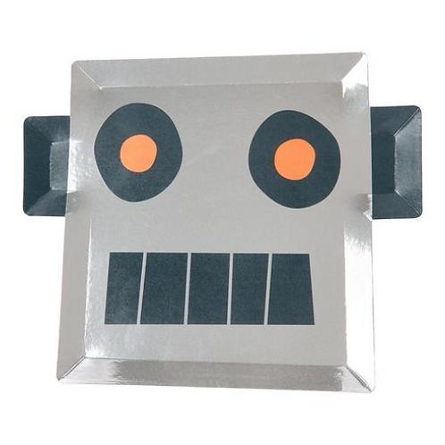 Plato decoración Robot
