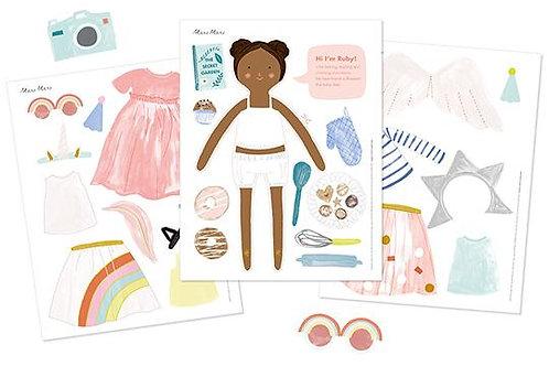 Muñecas impresas de papel Meri Meri: Ruby