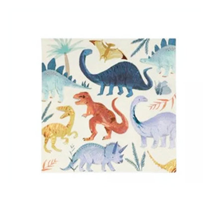 Servilletas dinosaurios grande- Meri Meri