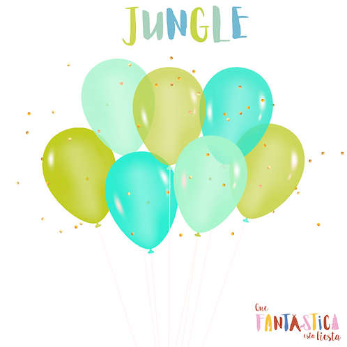 Set de globos latex Jungle