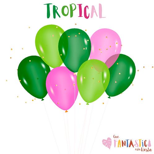 Set globos latex tropical
