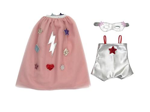RESERVAR   Disfraz para muñecas superhéroe Meri Meri