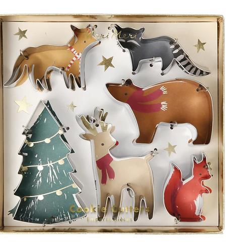 Cortadores de galletas animales en navidad - Meri Meri