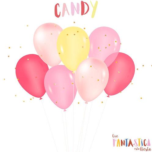 Set globos latex Candy