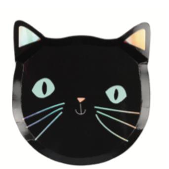 Platos gato halloween- MeriMeri