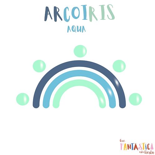 Kit Arcoiris Aqua- Globos latex