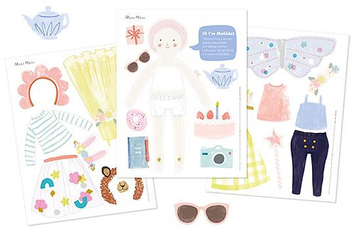 Muñecas impresa de papel Meri Meri: Matilda
